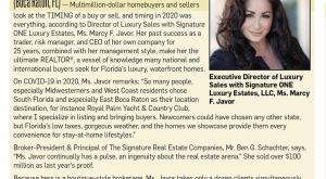 Why South Florida? Marcy F. Javor of Signature ONE Luxury Estates Explains